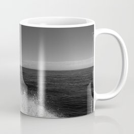 Sailing in the wind through the waves, Boat, Black and White photography #Society6 Coffee Mug