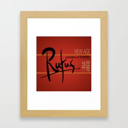 Rufus President of Shinra Campaign Logo - Final Fantasy VII Framed Art Print
