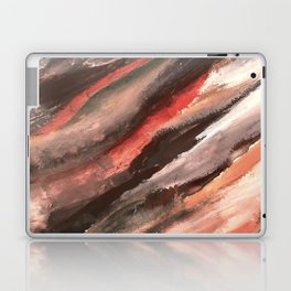 Moving Mountains: an abstract mixed media piece in contrasting pinks, purples, blues, and whites Laptop & iPad Skin
