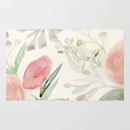 Blush Roses Watercolor Rug