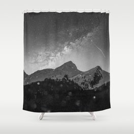 The Mountains - Black & White Shower Curtain