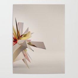 Mondrian Rearranged 3D Poster