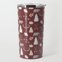 Woodland - Cranberry Travel Mug
