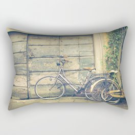 bikes in lucca  Tuscany Italy Rectangular Pillow