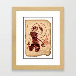 Tomb Raider Challenge 06 Framed Art Print