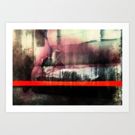 Morphine lips stop us crying out for...(More) Art Print