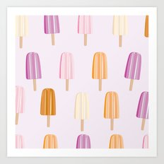 Ice Lolly - Popsicle Art Print