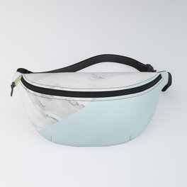 Marble + Pastel Blue Fanny Pack