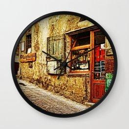 Tuscany, Italy Street Scene Wall Clock