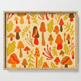 Spring Mushroom Print Serving Tray