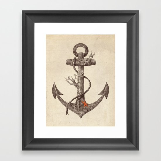 Lost at Sea - mono Framed Art Print