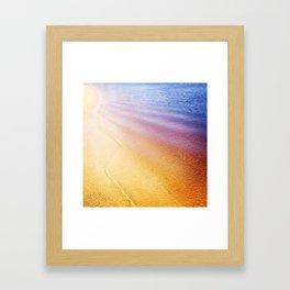 Rainbow Beach Framed Art Print