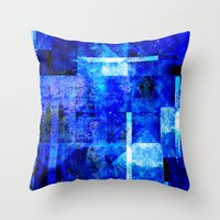 discount Throw Pillows featuring Sapphire Nebulæ by Aaron Carberry