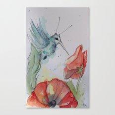 Humming Bird with antenna Canvas Print