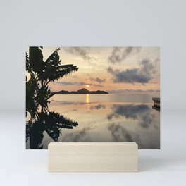 Sunset over Water Mini Art Print