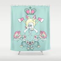 bambi Shower Curtains featuring King Bambi by kendrawcandraw