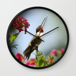 Hummingbird Guardian Wall Clock