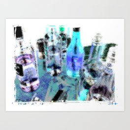 Bottles 5 - Scan Art Print