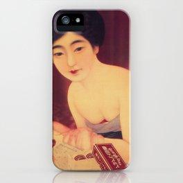 Vintage Japanese Soap Advertisement iPhone Case