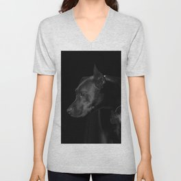 The black dog 7 Unisex V-Neck