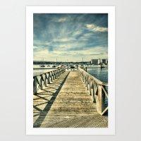 boardwalk empire Art Prints featuring Boardwalk by Steve Purnell