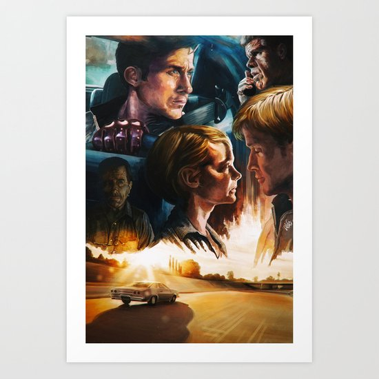 Drive movie poster Art Print