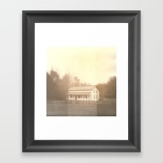 Cottage Polaroid Framed Art Print
