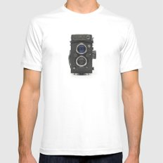 Vintage Camera (Yashica  124 G) Mens Fitted Tee White MEDIUM