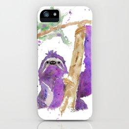 Purple Sloth iPhone Case