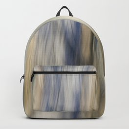 Soft Blue and Gold Abstract Backpack
