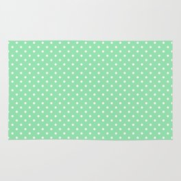 Mini Mint Green with White Polka Dots Rug