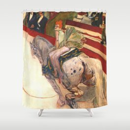 "Henri de Toulouse-Lautrec ""Equestrienne (At the Cirque Fernando)"" Shower Curtain"