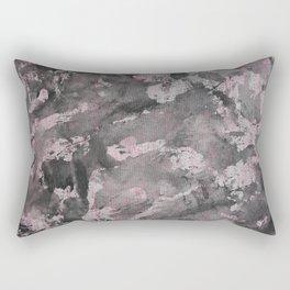Black Ink on Pink Highlighter Rectangular Pillow