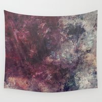 grunge Wall Tapestries featuring acrylic grunge by VanessaGF