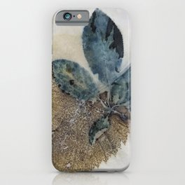 Blue Leaves Eco-print iPhone Case