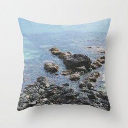 Coastal Rocks, St Ives Cornwall (1) Throw Pillow