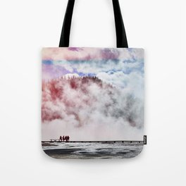 Hot Spring Silhouettes Tote Bag