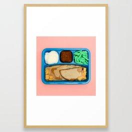 TV Dinner - Mystery Meat Framed Art Print