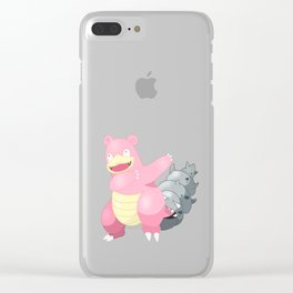 Slowbro Dab Clear iPhone Case