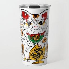 Melting Maneki Neko Lucky Cat Travel Mug