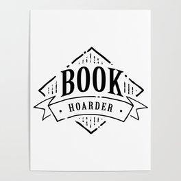 Book Hoarder Black Poster