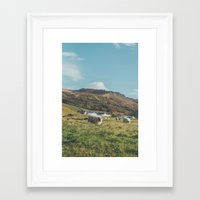 iceland Framed Art Prints featuring Iceland by Chelle Wootten