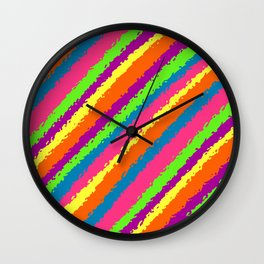 Crazy Colorz Wall Clock