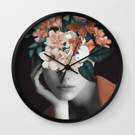 WOMAN WITH FLOWERS 7 Wall Clock