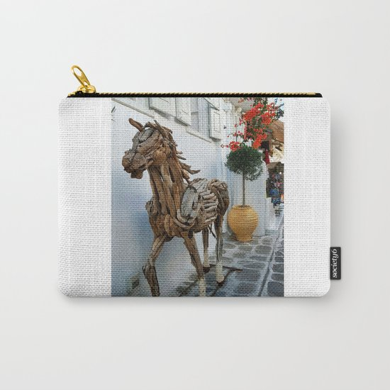 Wood horse Carry-All Pouch