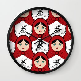 Matryoshka Wall Clock