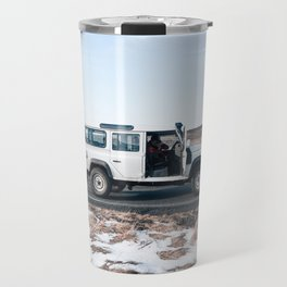 Day out shoting in Iceland Travel Mug