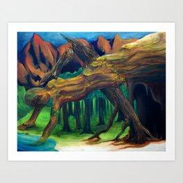 Balance Series - Evening Forest Art Print