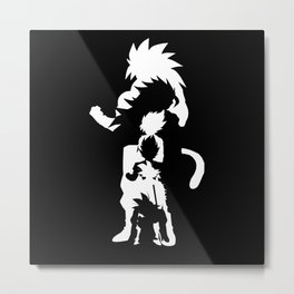 Goku Transformations Metal Print