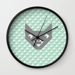 Geometric Cat #society6 #decor #buyart #artprint Wall Clock